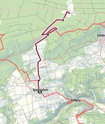 Karte / Spabrücken-Weissenfels-Walderlebniszentrum - gelber Punkt