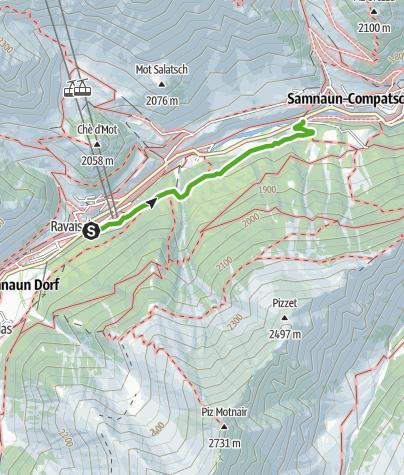 Karte / Wild- und Tierlehrpfad Samnaun