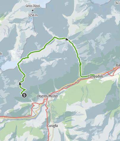 Map / 2-Tagestour T3,  Cavardirashütte