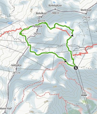 Map / 2-Länder-Wanderung