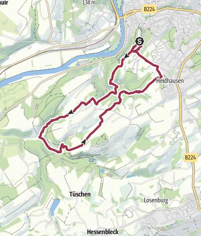 Karte / Rundwanderweg A2   Essen Werden