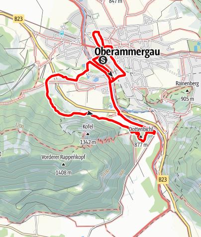 Karte / Wanderung - Historisches Oberammergau