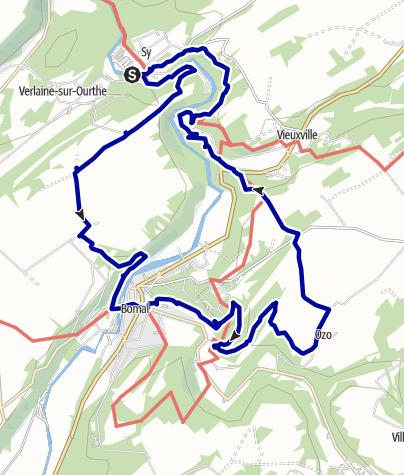 Kaart / Sy-Ozo-Sy NKBV 19,7 km