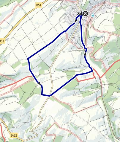 Karte / Wanderweg Dahlem D5
