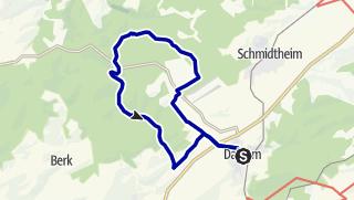 Karte / Wanderweg Dahlem D6
