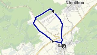 Karte / Wanderweg Dahlem D1A