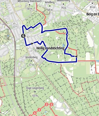 Kaart / Rondwandeling bij Nijmegen