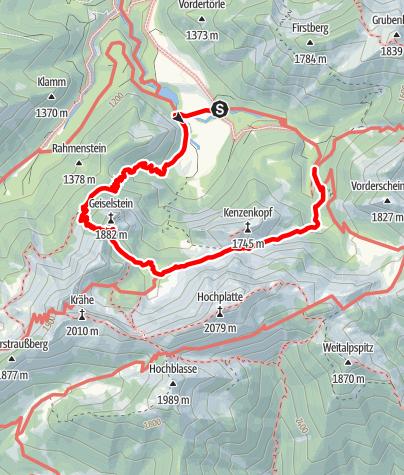 Kaart / Kenzensattel-Runde