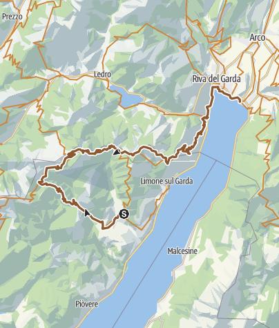 Karte / 23. September 1998 Vesio-San Michele-Tremalzo-Pregasina-Torbole.