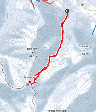 Karte / Galinakopf (2198)