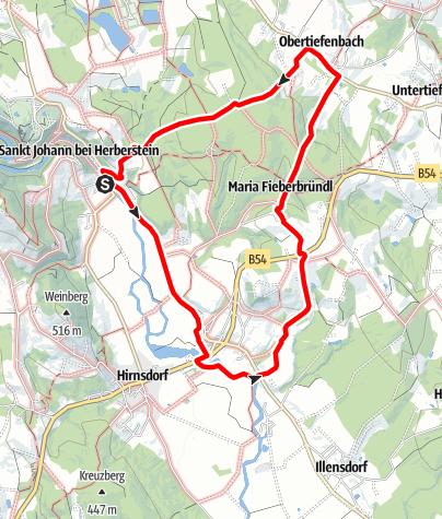 Karte / Große Hofwaldrunde