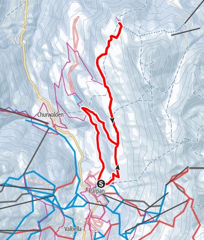 Karte / Parpan-Jochalp, Lenzerheide