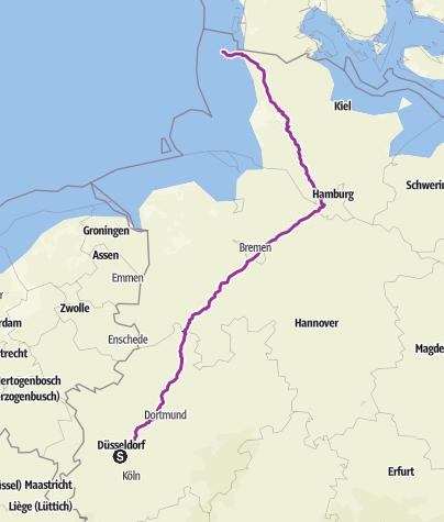 Karte / TESTTOUR Ddorf nach Sylt