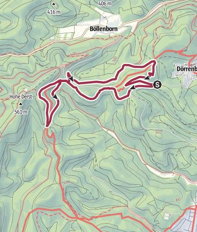 Karte / Dornröschen-Rundwanderweg