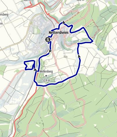 Karte / Wanderweg 11 - Eifelverein Ortsgruppe Nettersheim