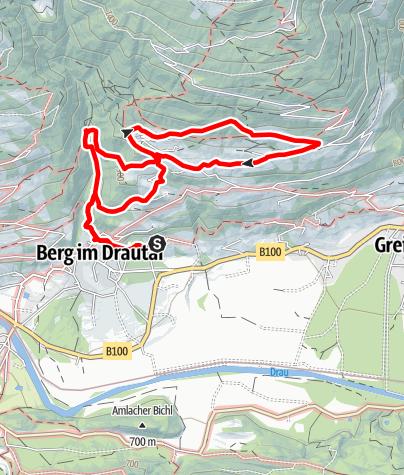 Karte / Johann-Hufnagel-Weg - Rundweg Emberg