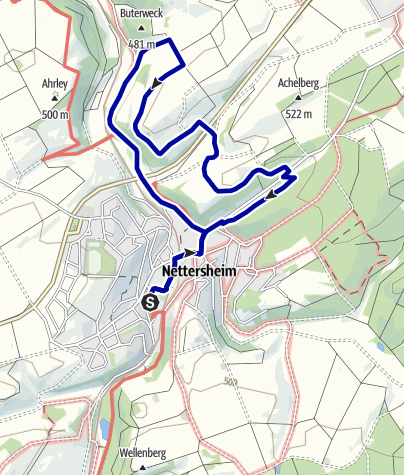 Karte / Wanderweg 12 - Eifelverein Ortsgruppe Nettersheim