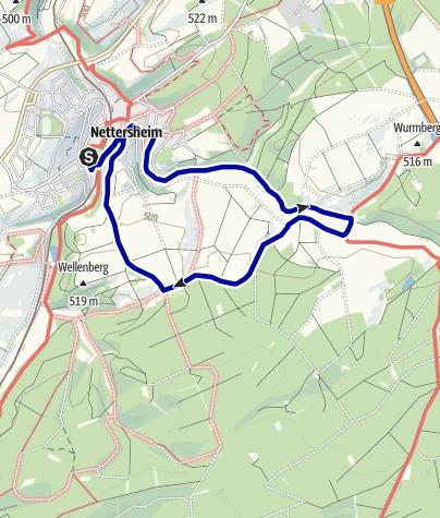 Karte / Wanderweg 13 - Eifelverein Ortsgruppe Nettersheim