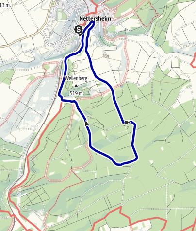 Karte / Wanderweg 14 - Eifelverein Ortsgruppe Nettersheim