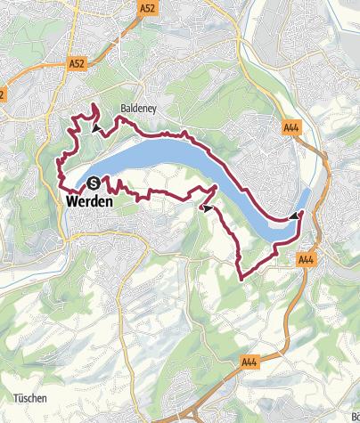 Karte / Baldeneysee-Steig