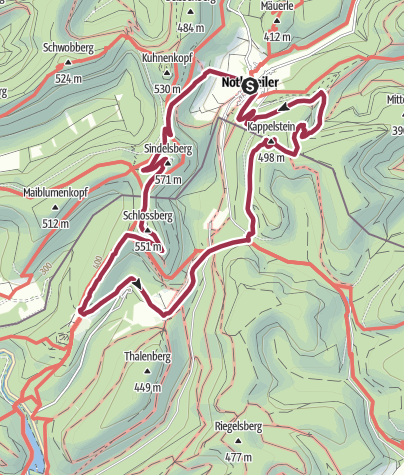 Karte / Nothweiler -  4 Burgen und 1 Bergwerk