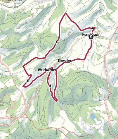 """Karte / Horschbach - Herrmannsberger Höhentour """"Römertour"""""""