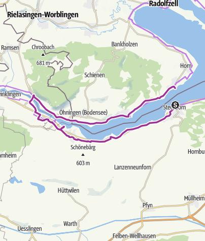 Karte / Westlicher Untersee - Steckborn - Stein am Rhein