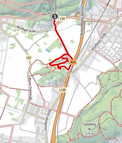 Map / Koblach - Natur- Kulturwanderweg zur Ruine Neuburg