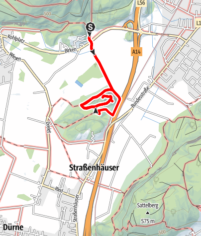 Karte / Koblach - Natur- Kulturwanderweg zur Ruine Neuburg
