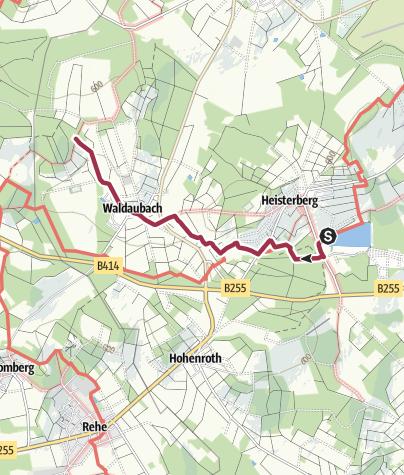 Karte / Rothaarsteig Zuweg von Heisterberg