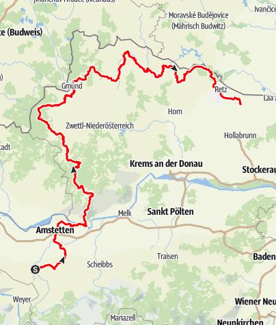 Map / Niederösterreichischer Landesrundwanderweg