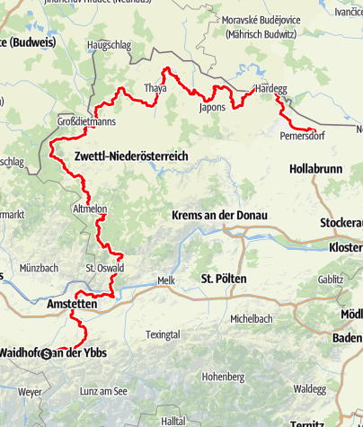 Mapa / Niederösterreichischer Landesrundwanderweg