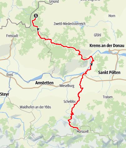 Karte / Nord-Süd-Weitwanderweg 605