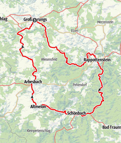 Mapa / Waldviertler Vier-Märkte-Weg 612