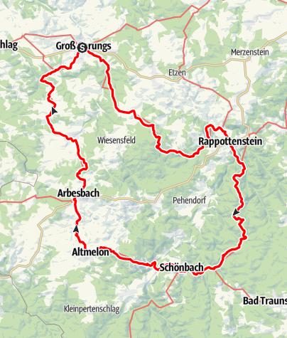 Karte / Waldviertler Vier-Märkte-Weg 612