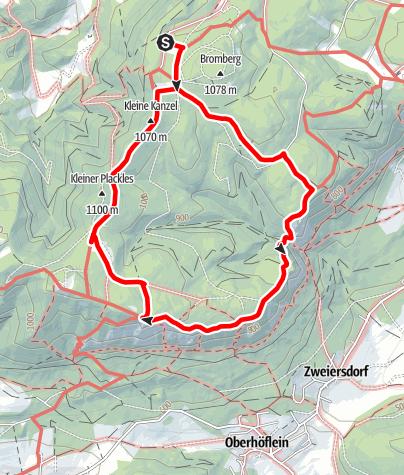 Map / Naturpark Hohe Wand Rundwanderweg - auf Wildenauers Spuren