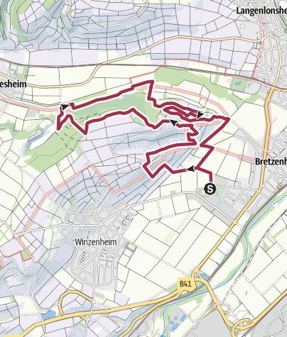 Map / Projekt: Vitaltour Eremitenpfad Bretzenheim - ab Oktober 2019!