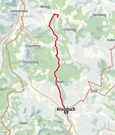 Mapa / WAB - Regionale Route B: Krumbach - Maria Schnee