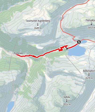 Karte / Kopssee bis Partenen