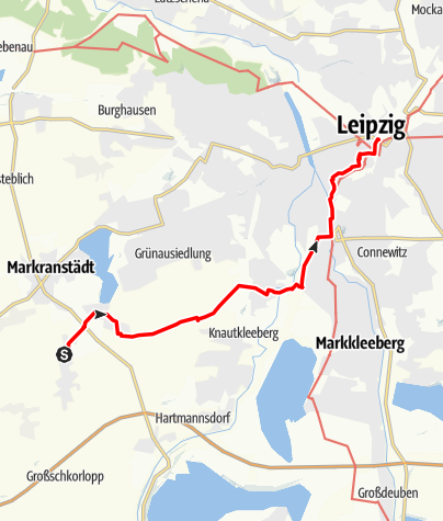 Karte / Von Kulkwitz nach Leipzig