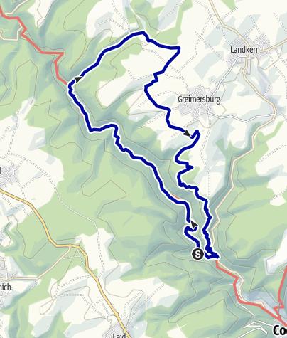Karte / Durch das Mühlental der Wilden Endert zur Zickelslei