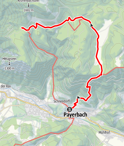 Mapa / WAB - Regionale Route J: Payerbach - Waldburgangerhütte - Knofeleben