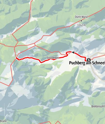 Mapa / WAB - Regionale Route P: Puchberg - Edelweißhütte