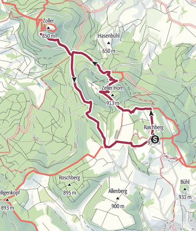 Karte / Hohenzollern wanderung