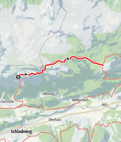 Map / Dachstein Rundwanderweg 4. Etappe