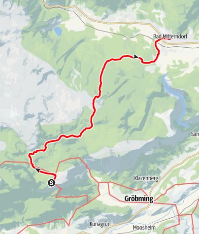 Map / Dachstein circular hiking trail 5th stage