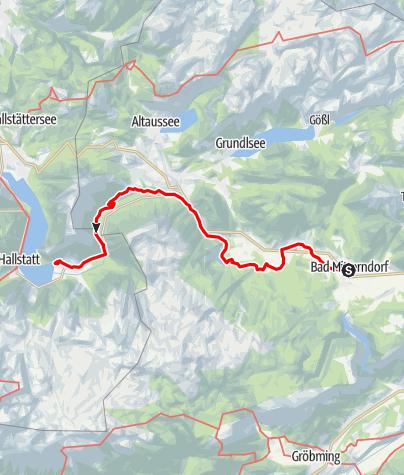 Map / Dachstein circular hiking trail 6th stage