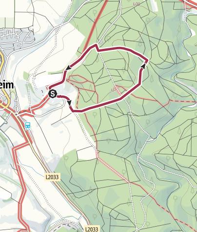 Karte / Rundweg Klosterwald Neresheim