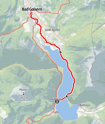 Map / Dachstein circular hiking trail 7th stage