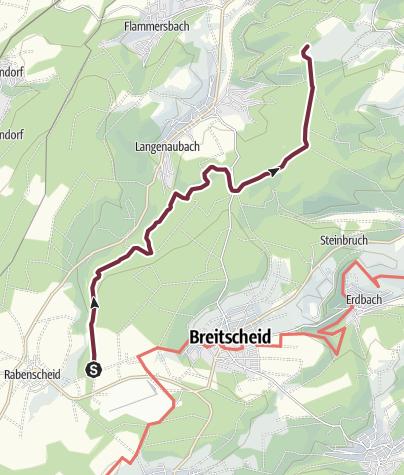 Kaart / Rothaarsteig Teilstück 6 Die wilden Weiber im Aubachtal